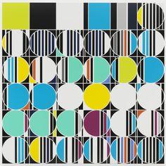 Sarah Morris at Friedrich Petzel: lines, stripes, circles and dots