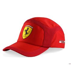 Czapka Ferrari Summer Cap - Red CZERWONY | FERRARI ACCESSORIES | Fbutik | Scuderia Ferrari Collection
