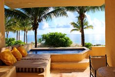 The view from a guest suite at Zoetry Paraiso de la Bonita in Puerto Morelos, Mexico