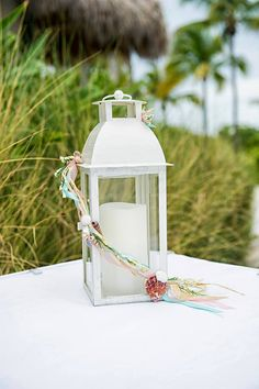 Beach Themed Wedding Lanterns Centerpieces by LittleBitMyStyle