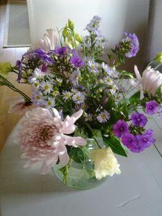 Gemengd bouquet. Zonder blad, alleen bloemen