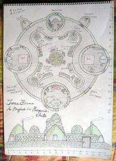 Describes building a small earthbag home in Patagonia. Cob Building, Green Building, Building Plans, Building A House, Building Ideas, Cob House Plans, Earth Bag Homes, Earthship Home, Tadelakt