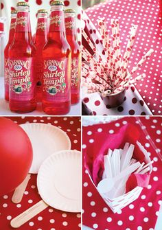Balloons and Paper Plate Ping Pong Paddles game (Classic Red Ball Birthday by Jessica Kirkland, contributor for Hostess with the Mostess)