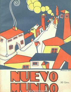 Cover for the Spanish magazine Nuevo Mundo, 1925, illus. Soriano