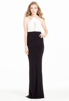 Beaded Cleo Two-Tone Dress #camillelavie #CLVprom
