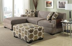 Smaller sectional type sofa for small spaces instead of those huge sectionals that swallow the whole room!