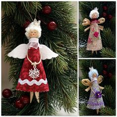 Ангелочки - МК / Angels (dolly peg dolls) - tutorial