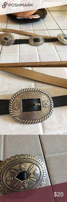 Leather belt Black leather belt Accessories Belts