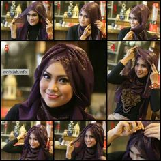 Here are 20 Styles Of Hijab Fashion And Modern New Hairstyle Trends Turban Hijab, Turban Mode, Muslim Fashion, Hijab Fashion, Islamic Fashion, Beau Hijab, Hijab Style Tutorial, Modele Hijab, Turban Style