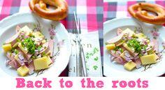 Bayrische Brotzeit mit leckerem Wurstsalat und Bretzel #food #foodblog #salad #bavaria #pretzel #sausage