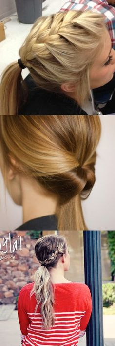 Ponytails. Cute. Different. DIY. Easy DIY. Hairstyles