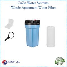 Pure, delicious water throughout your entire apartment or small home. Enjoy a healthier, happier lifestyle by installing CuZn's compact filtration system anywhere prior to your hot water heater.