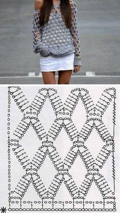 Captivating Crochet a Bodycon Dress Top Ideas. Dazzling Crochet a Bodycon Dress Top Ideas. Pull Crochet, Mode Crochet, Crochet Shirt, Diy Crochet, Crochet Tops, Tutorial Crochet, Crochet Ideas, Knitting Patterns, Crochet Patterns