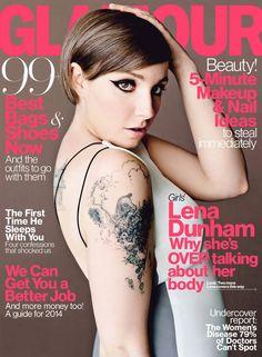 Lena Dunham protagoniza 3 portadas en la edición de abril de Glamour
