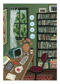 Pinzellades al món: Un lloc per escriure / Un lugar para escribir / A place to write