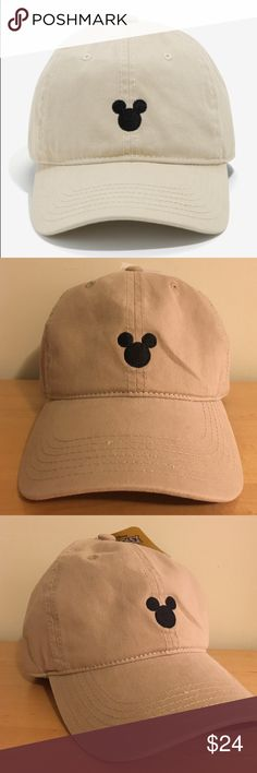 b6472b6b Tan /Beige MICKEY MOUSE Disney dad Hat cap Tan /Beige MICKEY MOUSE Disney  dad
