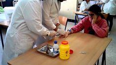 Extraer sangre con palomita y vacutainer
