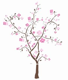 Rosenberry Rooms Spring Blossom Tree Giant Peel & Stick Applique.  For the bedroom?