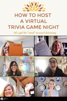 Learn how to host a virtual game night and gather online with your family and friends! Free Trivia Game printables to host a fun night on Zoom. Group Activities For Adults, Young Women Activities, Youth Activities, Group Games, Trivia Games For Adults, Virtual Family Games, Family Games Online, Virtual Families, Star Citizen
