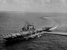 USS Saratoga (CV-3) in 1943.