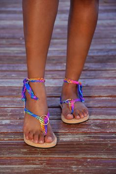 Classic Sandal with Interchangeable Color Ribbons