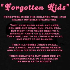 Forgotten adults, too. Especially forgotten adults. #invisible_disabilities #autism #ASD