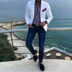 Saco blanco outfit men