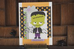 Bella Blvd Spooktacular collection. A Haunting We Will Go card by creative team member Becki Adams.
