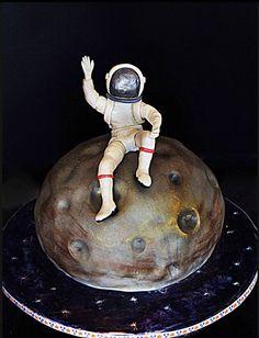 Astronaut on the moon cake by Anna Vasilyeva