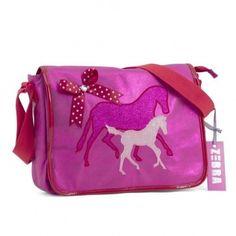 Deze Zebra Trends Juior A4 schooltas Paard Pink vind je op www.liefzebraatje.nl