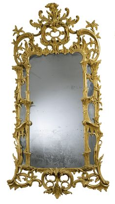 A George III carved giltwood mirror, circa 1765 | lot | Sotheby's