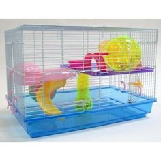 Amazon.com: Hamster Rodent Gerbil Mouse Mice Critter Cage - H4294Blu: Pet Supplies $50 after shipping
