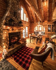 The Best 50 Log Cabin Interior Design Ideas they are carefully selected and cut in the build order in which they will be laid down to form the home. Cabin Interior Design, Rustic Home Design, Room Interior, Modern Design, Cozy Cabin, Cozy House, Cabin Tent, Cabin Fireplace, Fall Fireplace