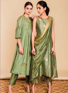 Silk Kurti Designs, Salwar Designs, Indian Designer Outfits, Designer Dresses, Designer Kurtis, Dress Neck Designs, Blouse Designs, Pakistani Outfits, Indian Outfits