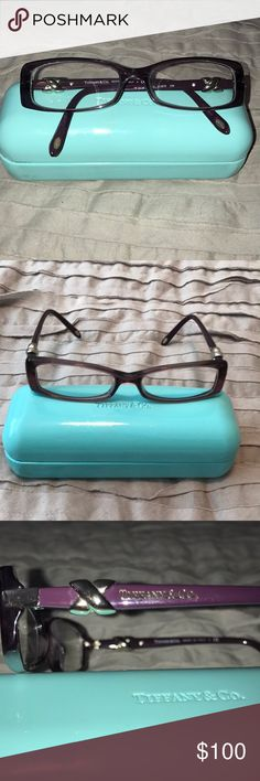 Tiffany Eye Glasses Beautiful Tiffany Eye Glasses. Have my prescription in them so you would need to have changed to yours. Hard Case included Tiffany & Co. Accessories Glasses