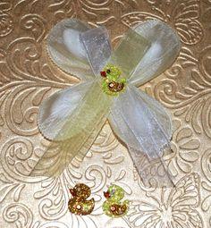 Confetti Flower/Ribbon Flower by AthenasFavorMeAlways on Etsy, $2.50