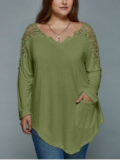 GET $50 NOW | Join RoseGal: Get YOUR $50 NOW!http://www.rosegal.com/plus-size-t-shirts/plus-size-lace-spliced-asymmetric-979222.html?seid=58udgl1jpac3b1qjmb4m8aihu2rg979222