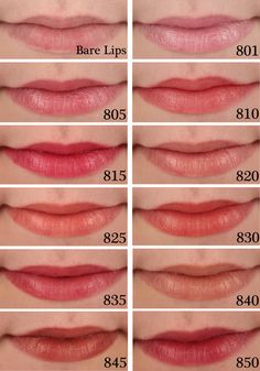 Revlon Super Lustrous Shine Lipstick Swatches 801 Pink Cloud, 805 Kissable Pink, 810 Pink Sizzle, 815 Fuchsia Shock, 820 Pink Cognito, 825 Lovers Coral, 830 Rich Girl Red, 835 Berry Couture, 840 Honey Bare, 845 Terra Copper, 850 Plum Velour