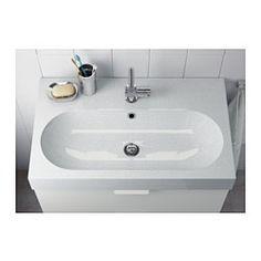 IKEA - BRÅVIKEN, Lavabo 1seno grande, 80x49x10 cm, , 10 años de garantía. Consulta las condiciones generales en el folleto de garantía.Al ser flexible, te resultará sencillo conectar el sifón al desagüe, la lavadora o la secadora.El diseño exclusivo del sifón deja espacio para un cajón de tamaño grande.