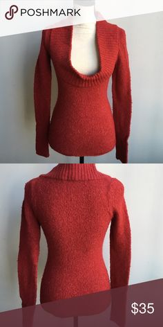BCBG MaxAzria Sweater BCBG Max Azria Red Sweater, Cowl Style Neck, Beautiful Styled With Jeans or Slacks & heels! Perfect for a Holiday Party! Can't go wrong with BCBGMaxAzria, Runs Small BCBGMaxAzria Tops