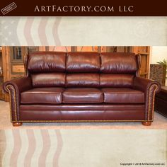 Fine Art Quality Luxury Furniture – 982250 Lounge In Style With This Luxurious, Genuine Full Grain Leather, Roll Arm Style Couch And Ottoman Set Handmade In The USA By Master Craftsman From Top Grade Natural Materials And Guaranteed Forever Art Furniture, Custom Furniture, Luxury Furniture, Bedroom Furniture, Bedroom Decor, Man Cave Diy, Leather Roll, Sofa, Couch