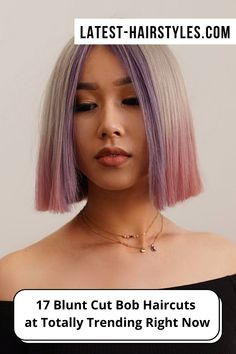 This is it ladies! The cutest blunt cut bob haircuts are right here. Click here to see them before your next haircut! (Photo credit IG @bescene) Blunt Bob Haircuts, Blunt Cuts, Latest Hairstyles, Face Shapes, Short Hair Cuts, Photo Credit, Lady, Hair Styles, Cute