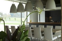 Covered lights and dining space design by Giselle, interior  #designer on Design for Me | Get matched with the right design professional for your home project on www.designforme.com