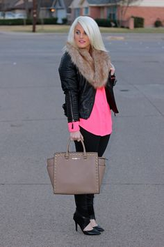 Create That Outfit: Neon and Leather