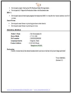 chartered accountant resume format freshers page 2 cv examples pinterest. Black Bedroom Furniture Sets. Home Design Ideas