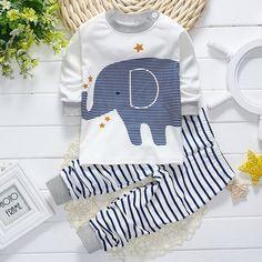 2017 Primavera infantil meninos roupas de bebê roupas de marca de algodão animal elefante meninos terno do bebê pijamas roupas terno dos esportes 2 pcs conjuntos em Conjuntos de roupas de Mãe & Kids no AliExpress.com | Alibaba Group