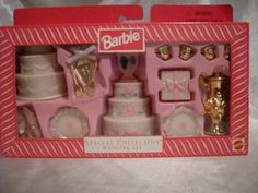 Barbie Special Collection Wedding Set by Mattel, 1997 Barbie 90s, Barbie Food, Doll Food, Barbie And Ken, Barbie Dolls, Barbie Stuff, Barbie Dream, Barbie House, Vintage Barbie