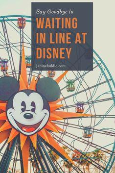 5 Easy Ways to Say Goodbye to Waiting in Lines at Disney World Disney World Secrets, Disneyland Secrets, Disneyland Vacation, Disney Vacation Planning, Disneyland California, Disney World Planning, Disney World Tips And Tricks, Disney Tips, Disney World Vacation