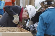 Jimmy Carter recently turned 93 years old. At 92 he collapsed from dehydration while building Habitat houses. He was back at work the next day. : pics