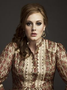 Adele...so good...plus that shirt is awesome.